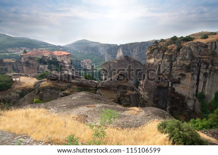 Photo of the famous Meteora Monasteries, Greece