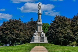 Photo of The Gettysburg Soldiers National Monument, Gettysburg National Cemetery, Pennsylvania USA