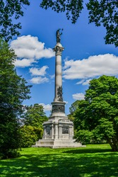 Photo of The Monument Dedicated to New York State, Gettysburg National Cemetery, Pennsylvania USA