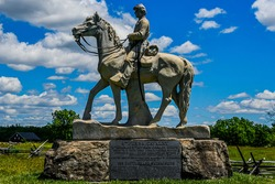 Photo of The Monument to the 8th Pennsylvania Cavalry, Located Near the Pennsylvania State Monument, Gettysburg National Military Park USA