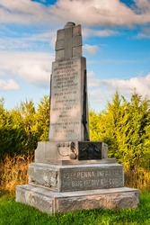 Photo of The Monument To The 49th Pennsylvania Volunteer Infantry Regiment, Gettysburg National Military Park, Pennsylvania USA