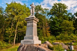 Photo of The Monument To The 155th Pennsylvania Volunteer Infantry Regiment, Little Round Top, Gettysburg National Military Park, Pennsylvania USA
