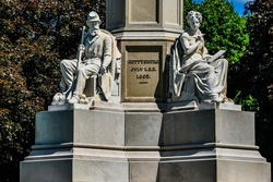 Photo of The Soldiers National Monument, Gettysburg National Cemetery, Pennsylvania USA