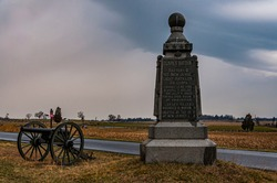 Photo of The 1st New Jersey Light Artillery Monument (Clarks Battery), Gettysburg National Military Park, Pennsylvania USA