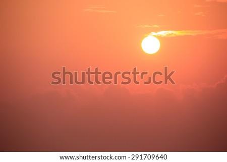 Photo of the  sunset, evening glow at Ceylon, Sri Lanka