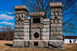 Photo of The 15th and 50th New York Engineers Monument, Gettysburg National Military Park, Pennsylvania USA