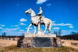 Photo of The 8th Pennsylvania Cavalry Monument, Gettysburg National Military Park, Pennsylvania USA
