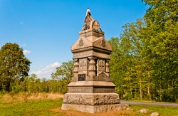 Photo of The148th Pennsylvania Infantry Monument Located in the Wheatfield, Gettysburg National Military Park, Pennsylvania USA