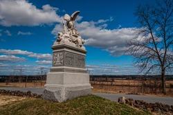 Photo of The 88th Pennsylvania Volunteer Infantry Monument, oak Ridge, Gettysburg National Military Park, Pennsylvania USA
