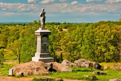 Photo of The 155th Pennsylvania Volunteers Monument Located Near Little Round Top, Gettysburg National Military Park, Pennsylvania USA