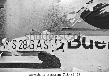 Photo of urban collage background or typography paper texture #718461496