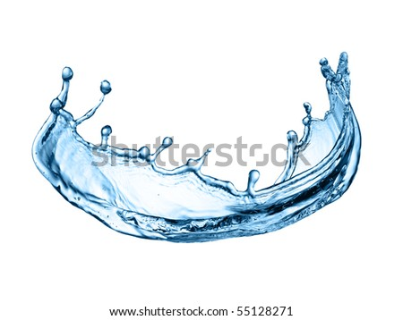 Photo of water splash isolated on white