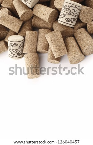 Photo of Wine corks from top