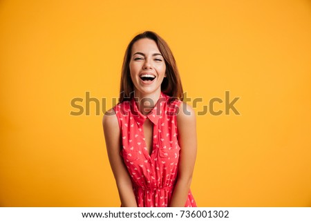 photo of young laughing pretty...