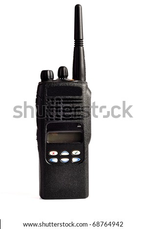 photo on a white background  cb radio