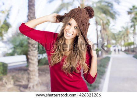 Stock Photo Photo os fashion girl with bonnet