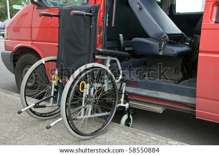 photo outdoor wheelchair access to transport patient