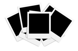 Photo papers card isolated on white background