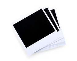 Photo papers isolated on white
