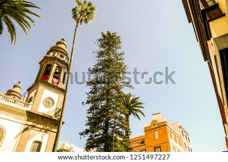 Photo Picture Image of old colonial buidings in la laguna tenerife canary islands spain