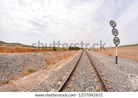 Photo Picture of a Classic Train Rail Road