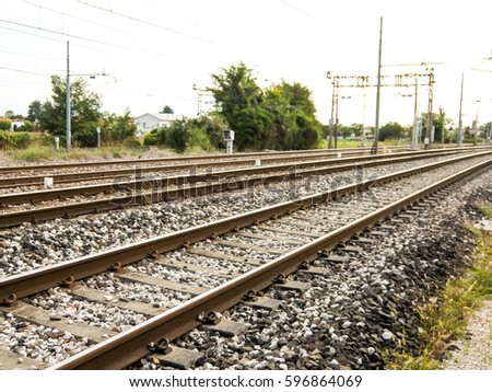 Photo Picture of a Classic Train Rail Road