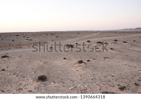 Photo Picture of a Countryside Desert Dirt Road