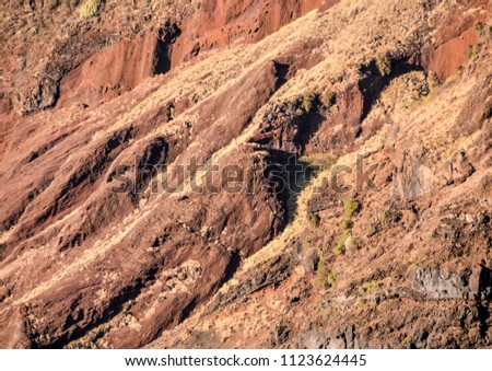 Photo Picture of a Volcanic Basaltic Rock Texture #1123624445
