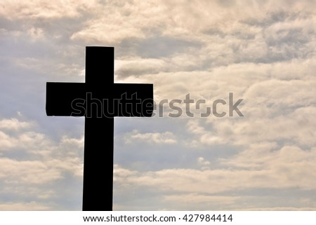 Photo Picture Of the Classic Cross Sign Silhouette