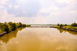 Photo pictureLandscape of The Po Delta River in Italy