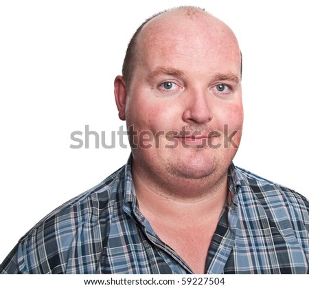 photo portrait smiling middle age man close up - stock photo