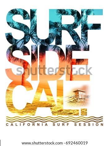 photo print california surf...