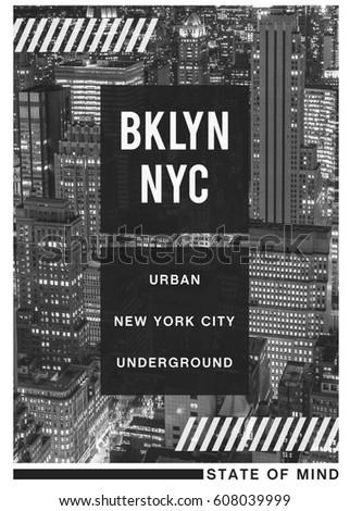 Photo print New York , typography, tee shirt graphics, illustration