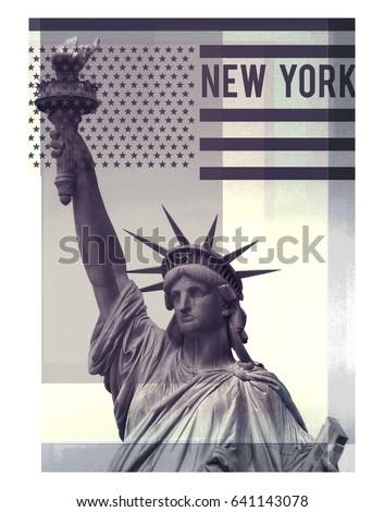 photo print statue of liberty...