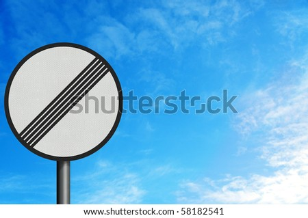 Photo realistic metallic reflective 'no limits' sign, with space for your text / editorial overlay