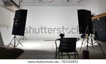 Photo shooting studio production.