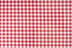 photo shot of checkered tablecloth