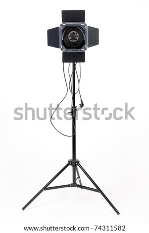 Photo-studio with lighting equipment