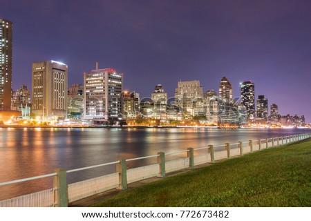Photo taken from Roosevelt Island to Midtown of Manhattan #772673482