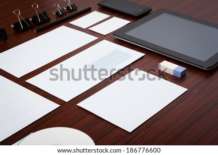Photo. Template business for branding identity.