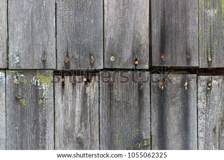 Photo texture of old black boards #1055062325