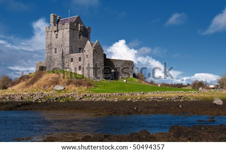 photo vibrant irish castle west of ireland