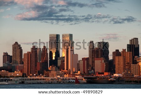 photo vibrant new york city late evening, usa