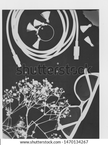 Photogram photography on sensitive paper - May 2019