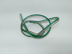 Photograph a piece of cable with a white background