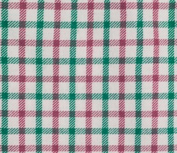 Photograph of a seamless generic gingham check pattern in pink and green.