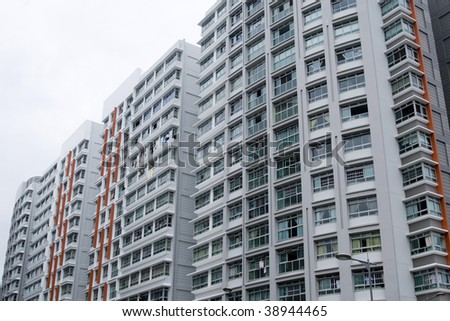 Photograph of high rise housing in Singapore.