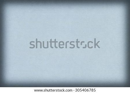 Photograph of old recycle, striped Kraft Light Powder Blue Paper, coarse grain vignette grunge texture.