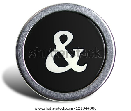 Photograph of Old Typewriter Key Ampersand