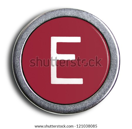 Photograph of Old Typewriter Key Letter E
